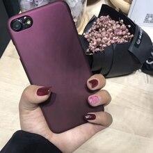 Роскошные Красное вино Case Для iphone 7 Case Для iphone 6 6 S 7 7 плюс 5 5S SE Телефон Случаях Мода Жесткий PC Матовый Чехол Капа Fundas