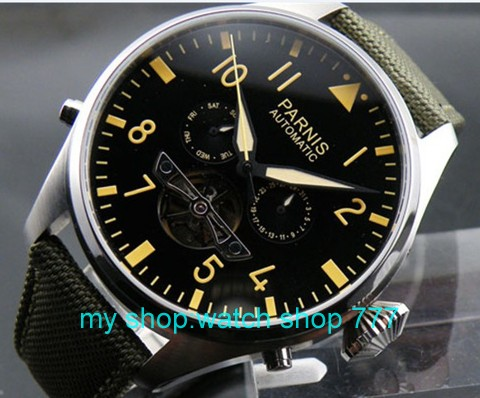 Parnis 47mm Big dial watch Automatic mechanical movement Men s watch Luxury watches High quality Wholesale
