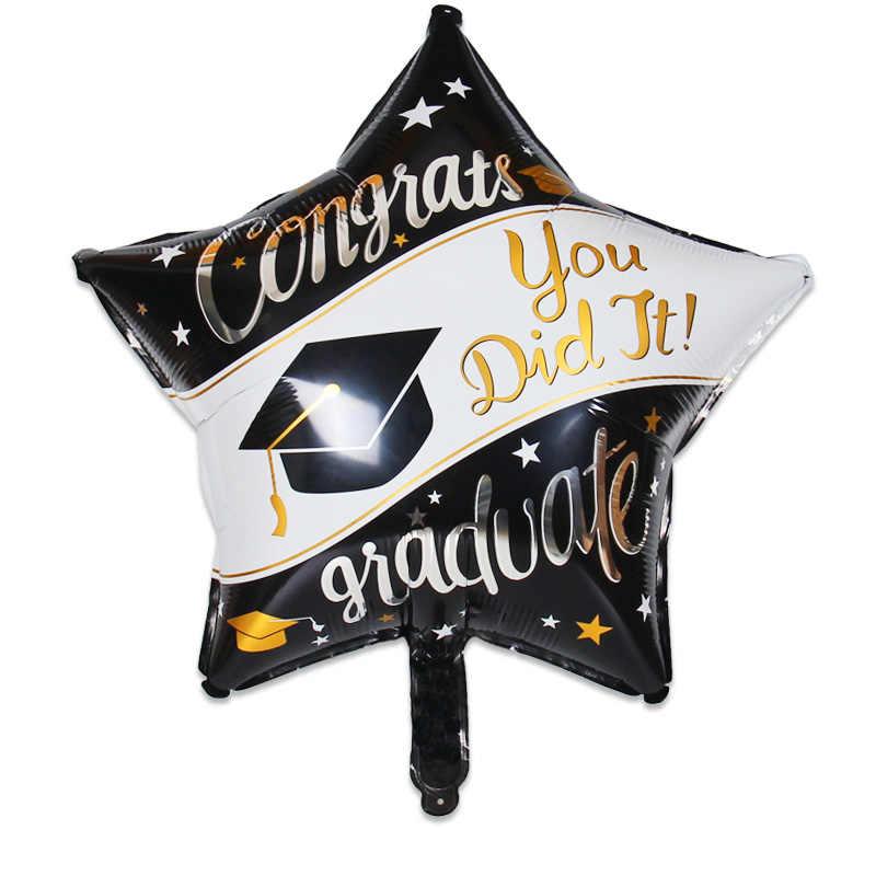1pcs 94*48cm Graduation Ballon Afstuderen doctoraal hoed folie ballon graduation ceremony decor Grad Felicitatie Levert