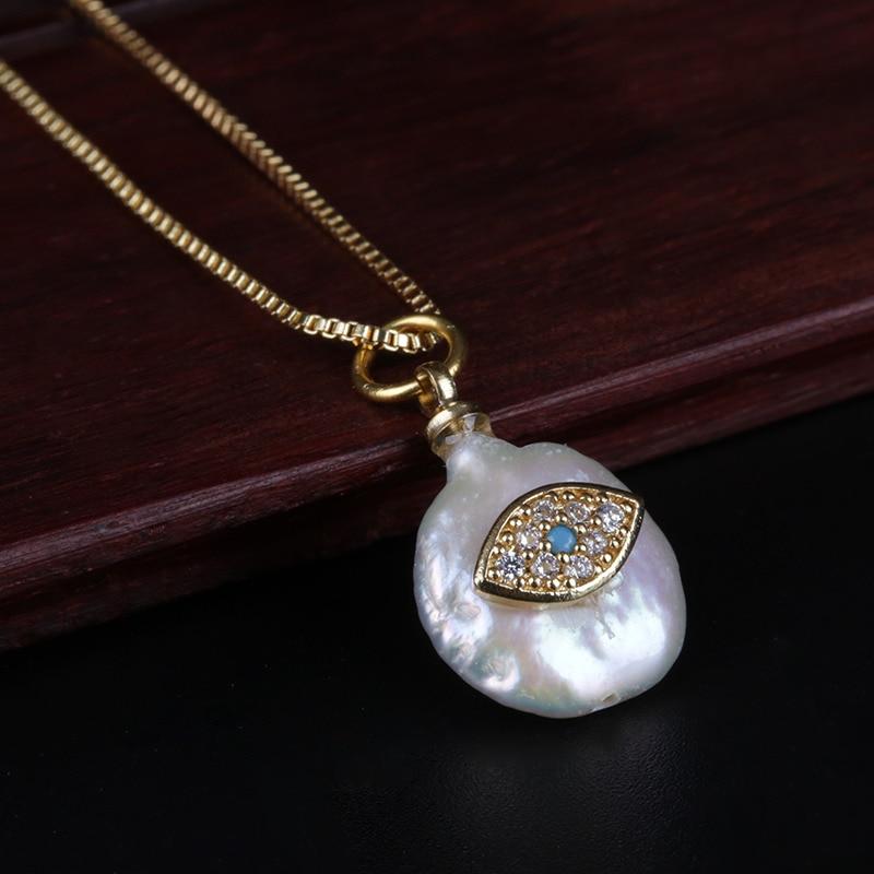 Women Fashion Crystal Shell Evil Eye Pendant Gold Choker Necklace Jewelry Gift