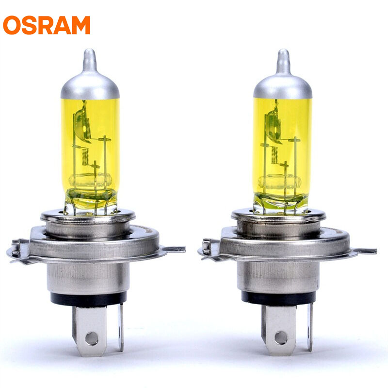 OSRAM H4 12V 60/55W 2600K Fog Breaker Xenon Yellow 200% Yellow Light 60% More Bright Car Halogen Bulbs Beam Headlight 62193FBR