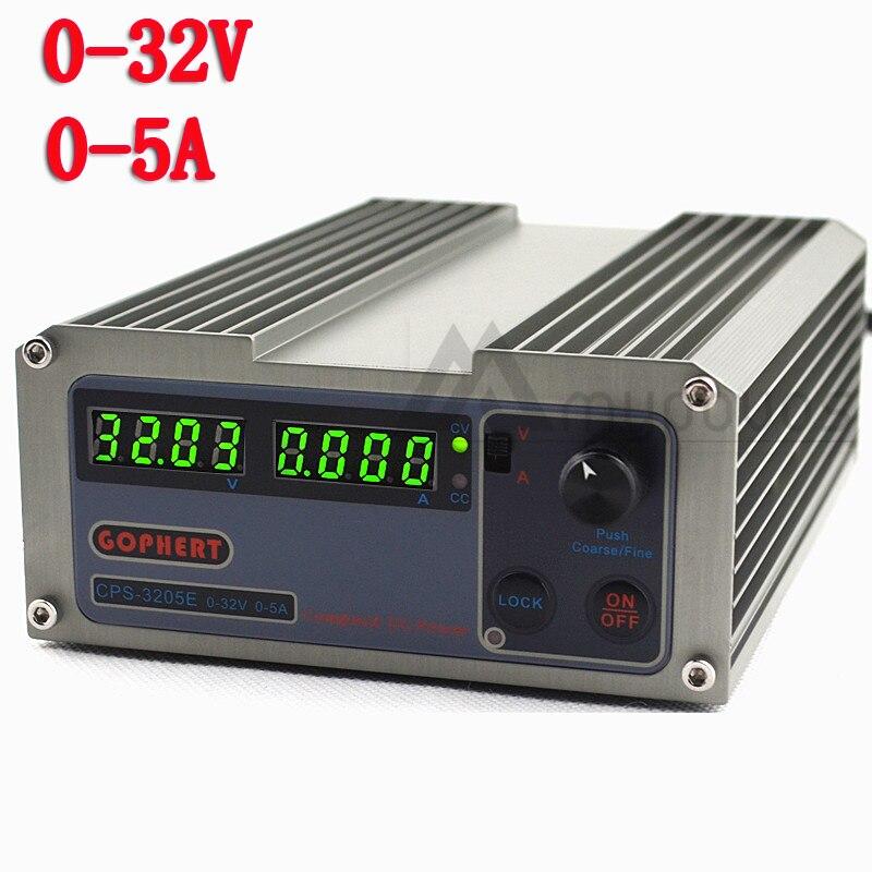 New CPS-3205E Arrivals Precision Digital Adjustable MINI DC Power Supply OVP/OCP/OTP 32V5A 110V-230V 0.01V/0.001A EU Free Shippi