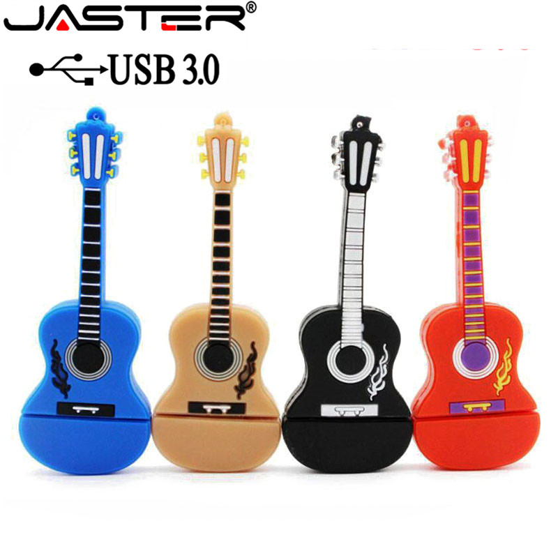 JASTER USB 3.0 Fashion New Musical Instrument Guitar Usb Flash Drive Memory Stick 4GB 8GB 16GB 32GB 64GB USB Pen Drive U Disk