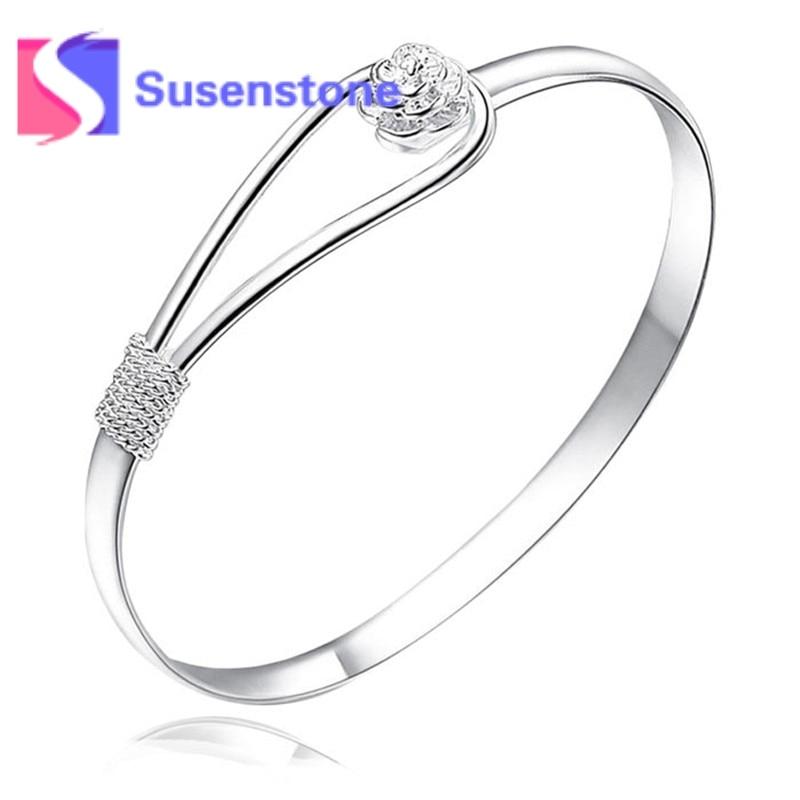 Engagement & Wedding Bracelet Bangle Solid Silver