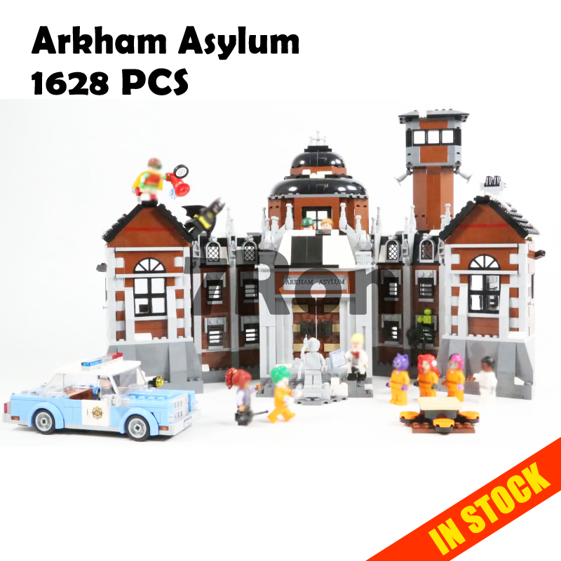 Model building toys hobbies 07055 Compatible With lego Batman Blocks 70912 Arkham Asylum Educational DIY Bricks lepin 07055 batman series arkham asylum model building block compatible legoe 1628pcs toys for children