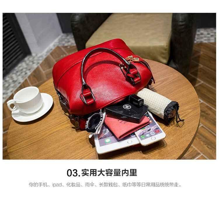 Fashion Echtes Leder Taschen Für Frauen 2018 Luxus Marke Handtaschen Frauen Taschen Designer Messenger Quaste frauen Schulter Taschen X43