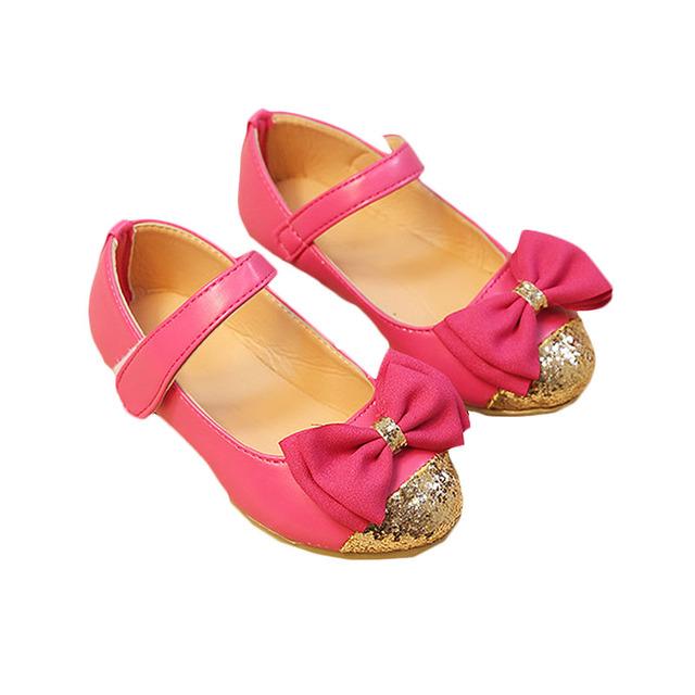 Venda quente Meninas Sandálias Kids Shoes Bowknot PU Couro Do Dedo Do Pé Aberto com Vara Mágica Meninas Sola Macia Sapatos de Dança 3 Cores YY1022