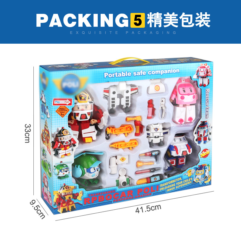 Robocar Poli Deformation robot police car kids Puzzle Toys Robot Transformation Anime Action Figure Toys For Children gifts