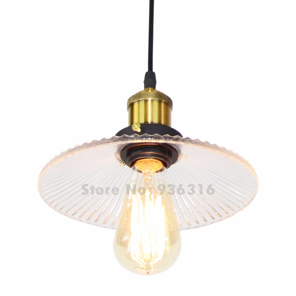 Modern Fold Clear Glass Pendant Lights Retro Hanging Loft Restaurant Coffee Shop Luestes E27 Edison LED Bulbs Fixture modern colorful color stone glass pendant lights retro hanging restaurant lustres g4 led bulbs fixture indoor lighting