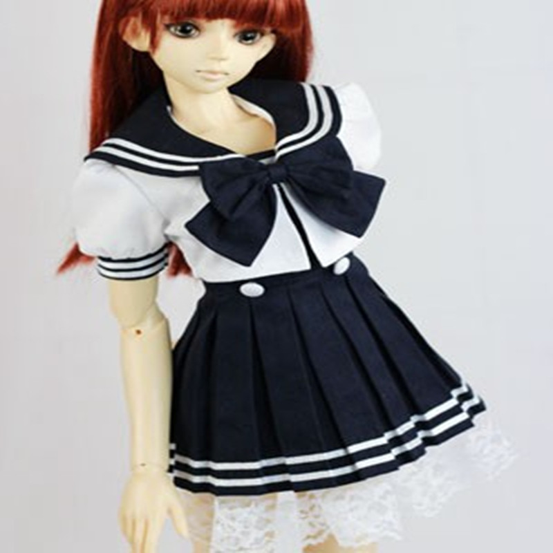 KK bjd SD doll dresses doll clothes dress uniform sailor suit clothing - 65cm doll 1/3 1/4 sweetie chocolate mousse european retro outfit dress suit for bjd doll 1 6 yosd doll clothes lf9