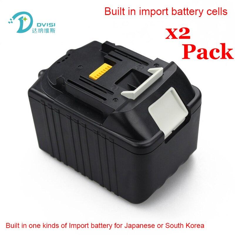 2 PCS 6.0Ah Nouveau Li-ion Power Tool Batterie Rechargeable Batteries pour Makita 18 V BL1830 BL1840 LXT400 BL1815 194230-4 En Gros