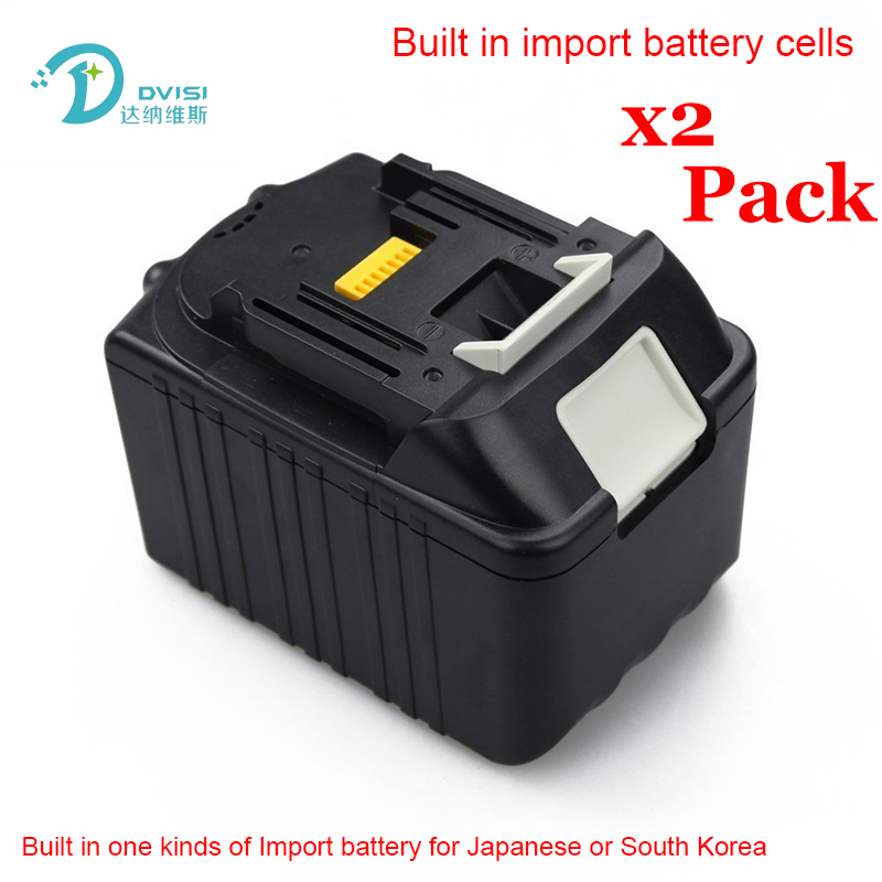 2PCS 6 0Ah New Rechargeable Li ion Replacement Power Tool Battery for Makita 18V BL1830 BL1840