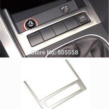 VW Jetta MK6 нержавеющая сталь автомобилей Стайлинг коробка для хранения USB Панель Refit накладка наклейка украшения