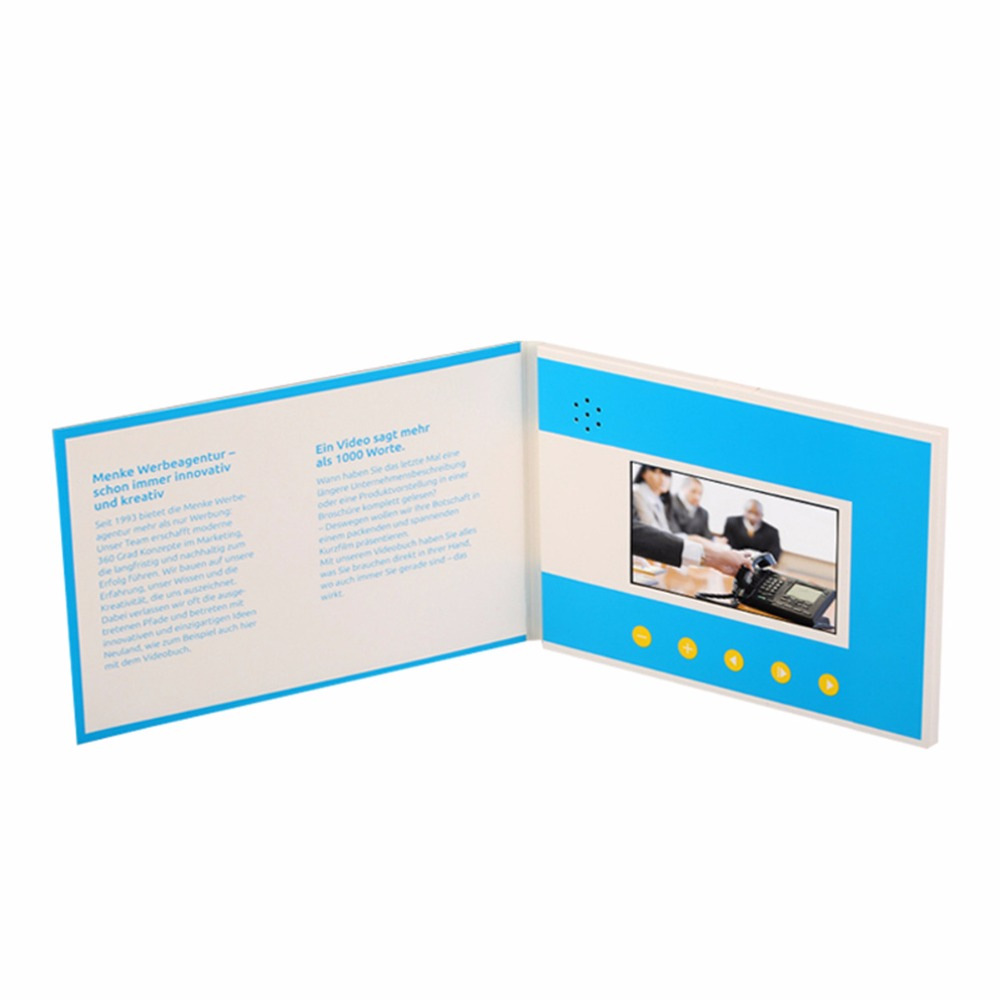 Professional Customizat 43inch Video Brochure Cards For