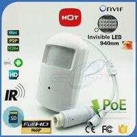 2018 New HD 960P 1.3MP Security CCTV POE IP Camera Audio Sound Record P2P Onvif Surveillance PIR Style Motion Camera SD Card