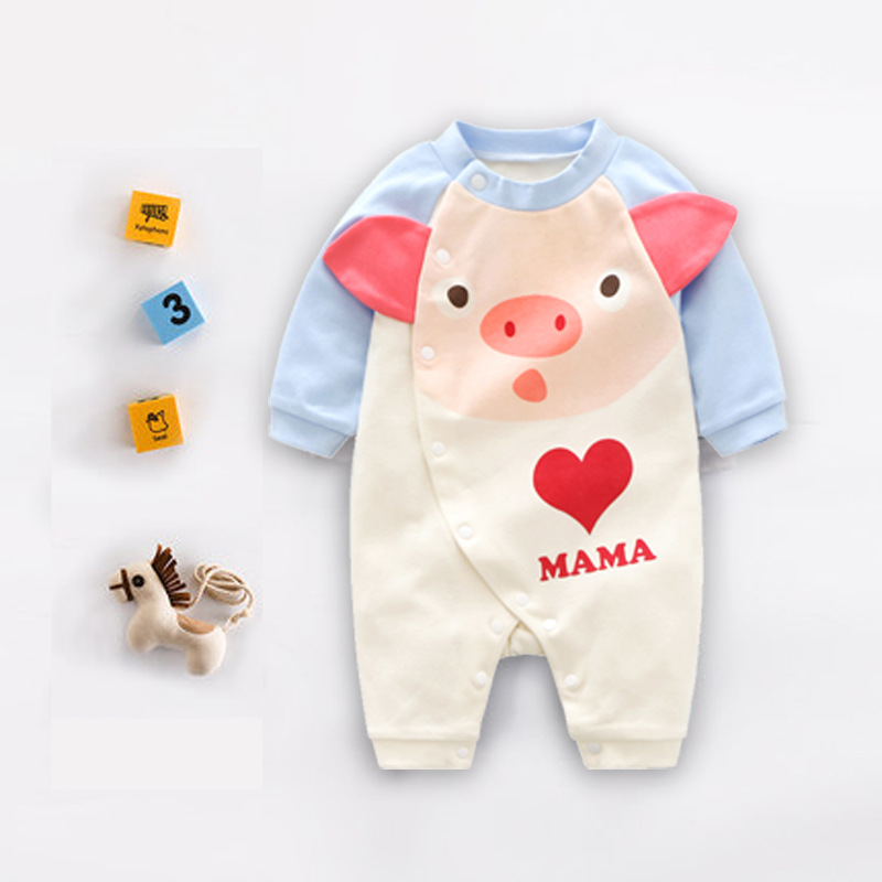 New baby clothing cotton long climbing newborn onesies cartoon baby childrens clothing