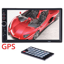 """2 din GPS Del Coche Reproductor Multimedia de Navegación Mapa de Cámara de 7 """"HD de Pantalla Táctil MP5 Vídeo Autoradio Radio Bluetooth AUX Volante"""