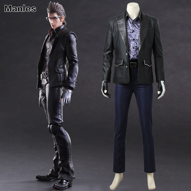 Final Fantasy XV Cosplay Ignis Scientia Costume Adult Men Anime Game Outfit Cosplay Uniform Black Jacket Full Set Custom Made