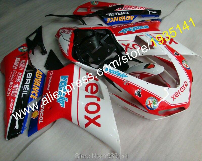 Горячие продаж,гонки обтекатель для Ducati 848 1098 07 08 09 10 11 Год 1098S 1198 мотоцикл кузова Обтекателя комплект (литье под давлением)