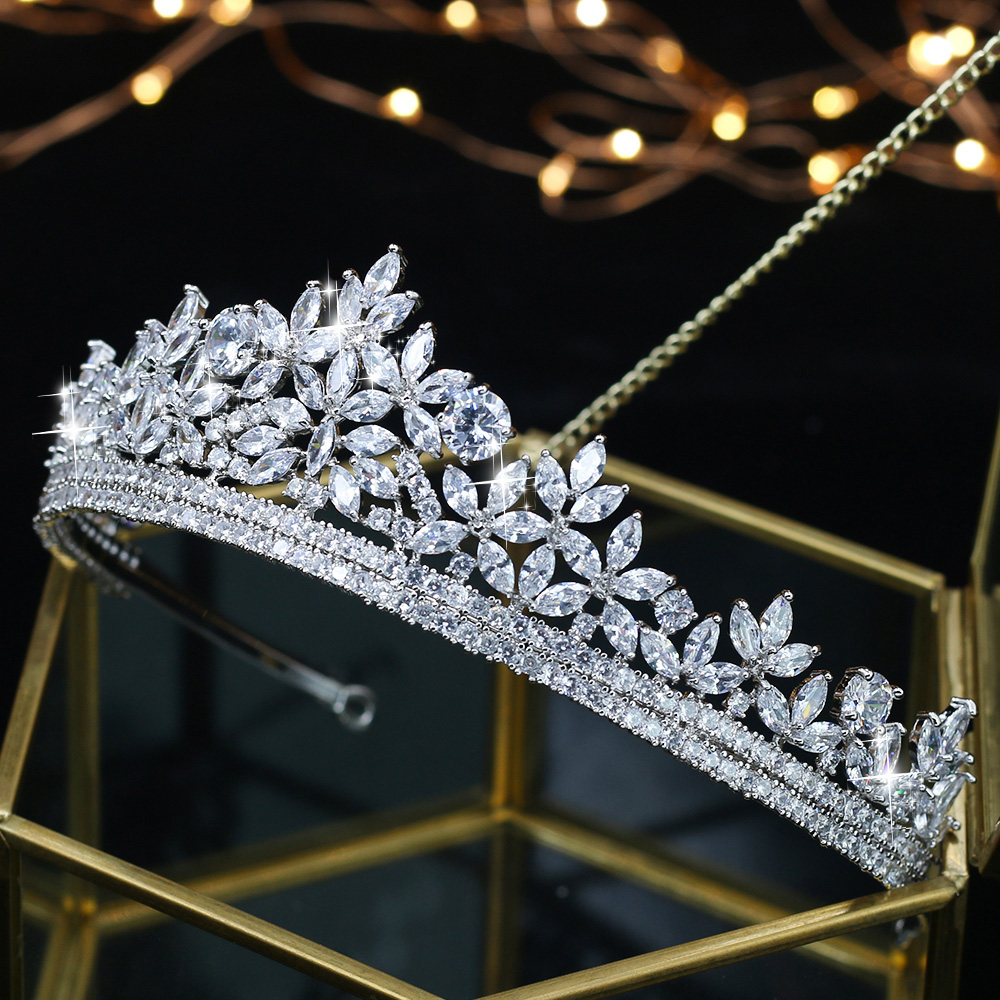 купить ASNORA Fashion Crowns Tiaras for Brides Shiny Zircon Princess Hair Jewelry Bridal Crowns Wedding Tiaras недорого