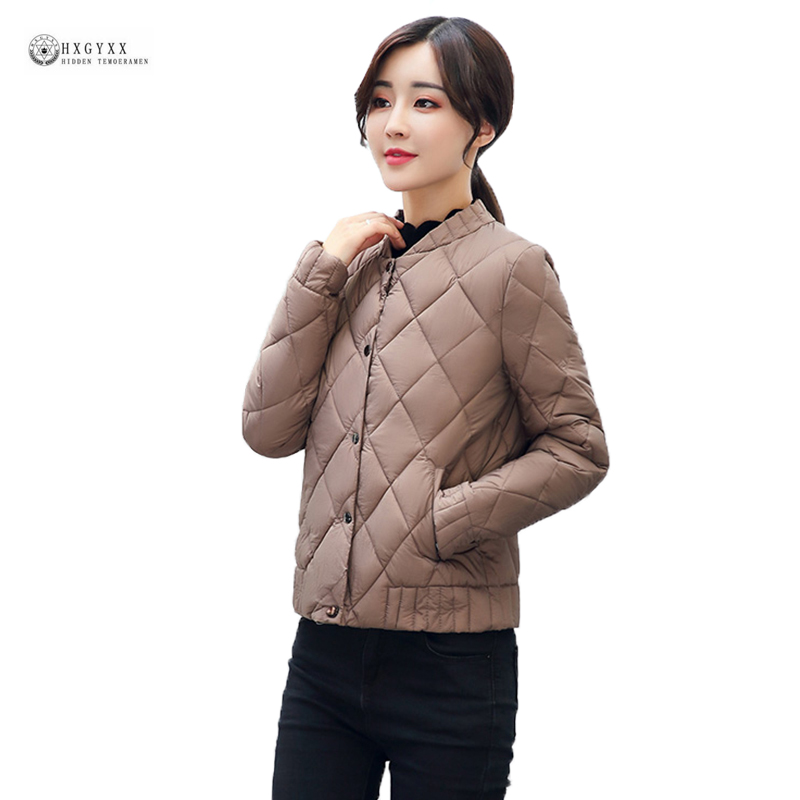 2017 New Hot Women Autumn Short Cotton Jacket Pure Color Single Breasted Thin Winter Coat Female Parka Leisure Outerwear OK1021 free shipping boruoss 2015 new fashion winter cotton coat women short single breasted coat boruoss w1292