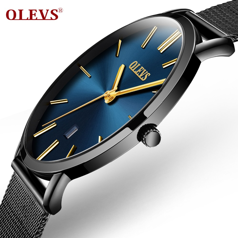 Ultra thin Watches for men Waterproof Quartz watch Leather Stainless steel wristwatch with date Calendar clock Relogio Masculino цена