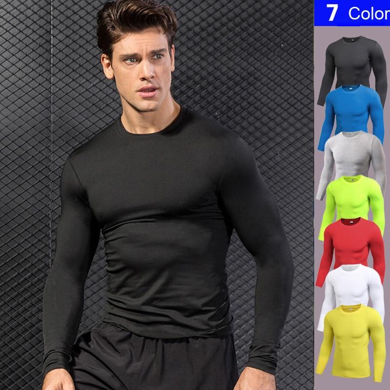 New Gym Fitness Tights Top Quick Dry Running T-shirts Sport Compression Shirt Soccer Jerseys Long Sleeve Rashgard T-Shirt