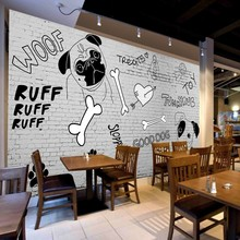 Custom 3d wallpaper  Custom restaurant decoration