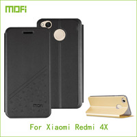 Case For Xiaomi Redmi 4X Mofi Cell Phone Case Fashion Flip PU Leather Stand Cover Book
