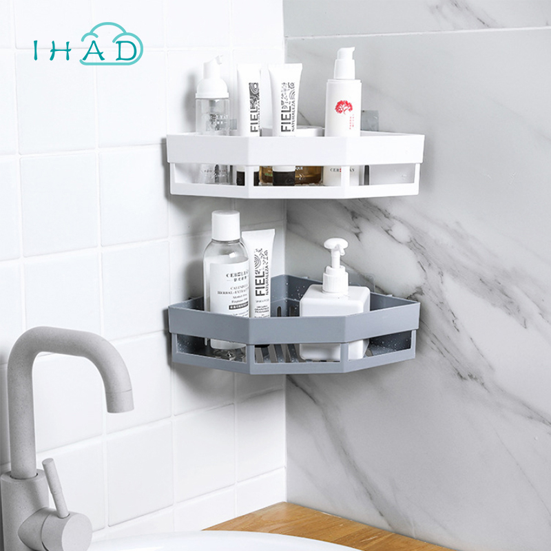 Aliexpress Corner Storage Rack Bathroom Toiletries Holder Makeup Organizer Nailless Drain Wall Hanging Tray Kitchen Bottles From