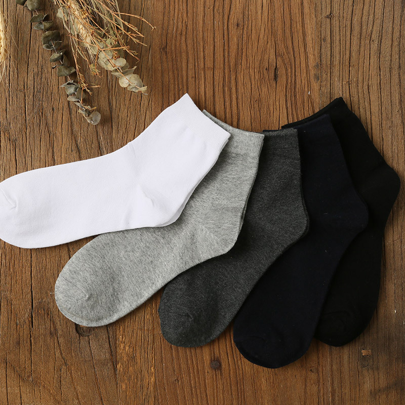 Mantieqingway Casual Cotton Socks for Mens Solid Color Summer Sock for Women Breathable Business Dress Long Tube Socks