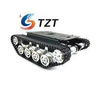 Tracked Unassembled Shock Absorption Tank Plastic Chassis Intelligent Car Robot 150rpm 9V/330rpm 12V