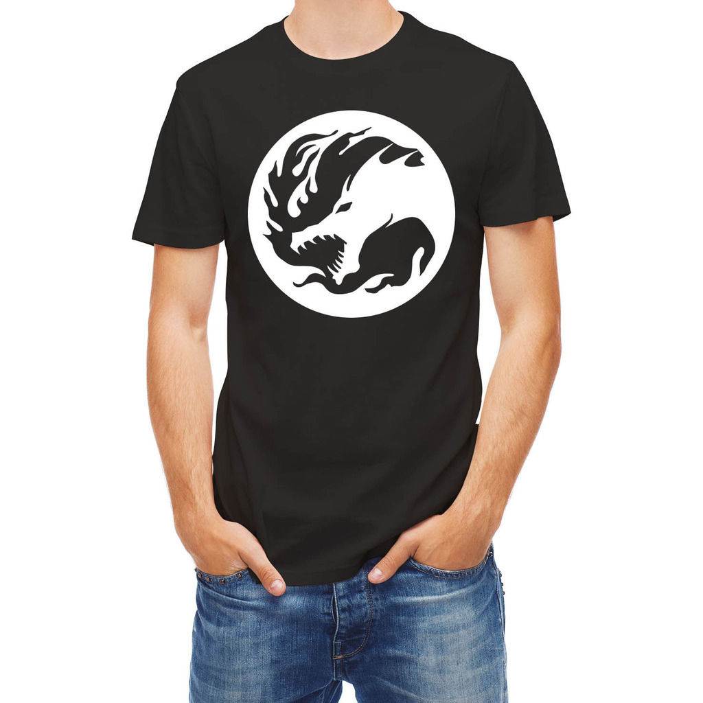 T-shirt Dragon  Men T Shirt Short Sleeve Round Neck Printed T-Shirt Pure Cotton Men Top Tee Shirts for Men Colour Funny Printed