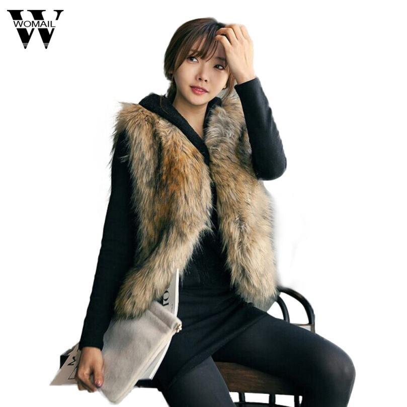 Mode-Sleeveless Warm Beiläufige Elegante Lange Frauen Fuchs Pelz Weste Weibliche High Street Solid Frauen Weste Outwear Mantel Casaco Nov25