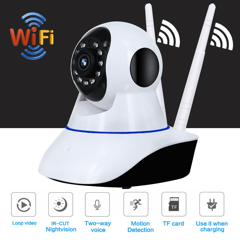 1080P PTZ Wifi IP Camera 360 Degree Fisheye IR-Cut Night Vision Two Way Audio 2MP CCTV Security Camera SD Card Slot цена