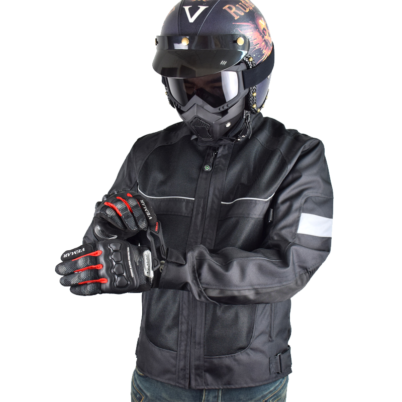 2018 Brand New Lyschy Summer Motorcycle Jacket Men Riding Jacket Motorbike Moto Jacket Jaqueta Motoqueiro hombre