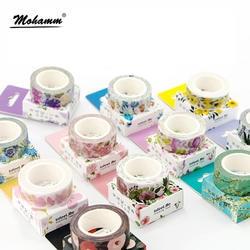 Милые Kawaii растения цветы японский маскировки васи клейкие ленты декоративные клей клейкие ленты Decora Diy стикер для скрапбукинга этикетки