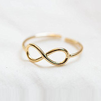 Retro Toe Ring Simple Sliver Golden Plated Foot Jewelry 3