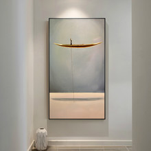 New Chinese Style Golden Boat Natural Landscape Creative Canvas Paintings Wall Art Pictures For Living Room Home Decor Nostalgic(China)