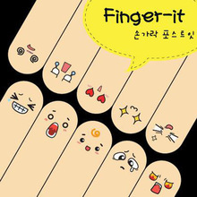 Creative Q Finger Adhesive Sticker Memo Paper Sticky Notes and Pads Cute Note Face Smile School Supplies