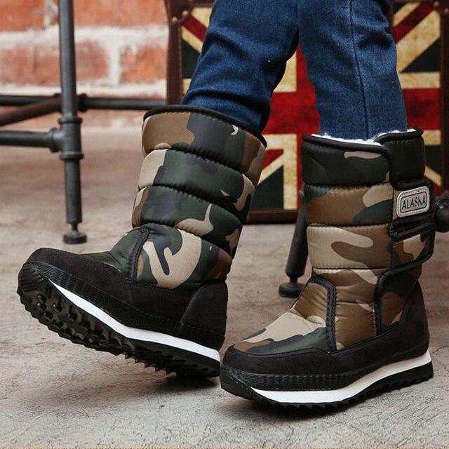 -30 度ロシア冬暖かいベビーシューズ、ファッション防水子供の靴、ガールズボーイズブーツ子供のためのパーフェクトアクセサリー