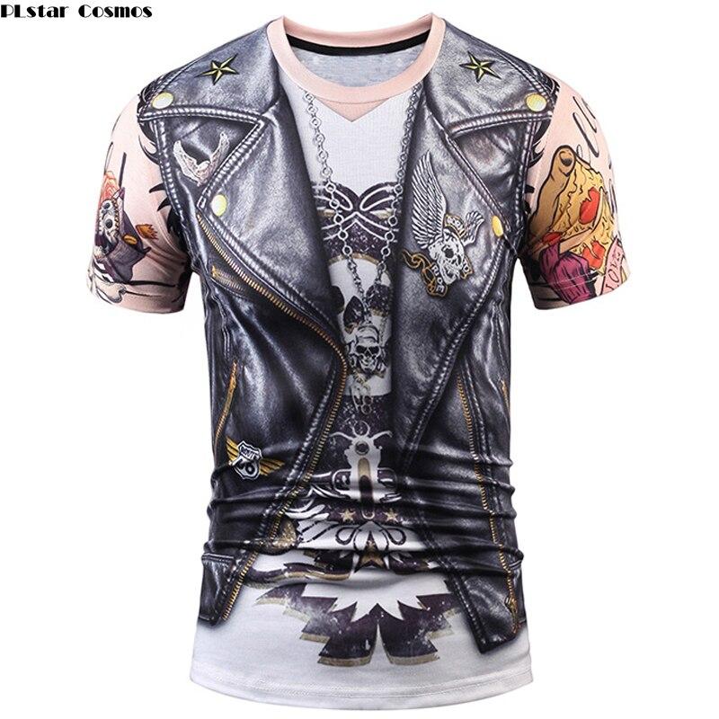 PLstar Cosmos New style Fashion 3d print T-shirts Summer Men/Women Unisex  Fake Vest tshirts Brand Free Shipping Cosplay Tops