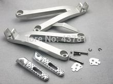 Chrome Rear Passenger Foot Pegs Footrest&Bracket For Honda CBR600RR 2007 2008 2009 2010 2011