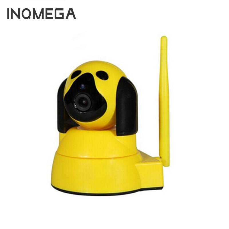 INQMEGA 720PHD WiFi Camera Smart Dog Home Security IP Camera Wireless Night Vision CCTV Camera Baby Monitor Yellow Color blueskysea clever dog wifi home security ip camera baby monitor intercom smart phone audio night vision cam de seguridad p4pm