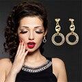 New Arrival Fashion Promotion18K Gold Plated Crystal Earrings For Women  Earrings Hot Sale Brincos Women Bijoux Kupe