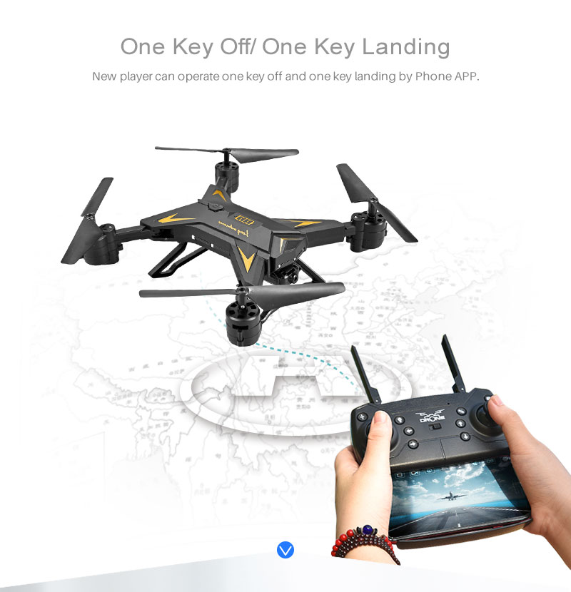New RC Helicopter KY601S Drone with Camera HD 1080P WIFI FPV RC Drone Professional Foldable Quadcopter  Minutes Battery Life 13