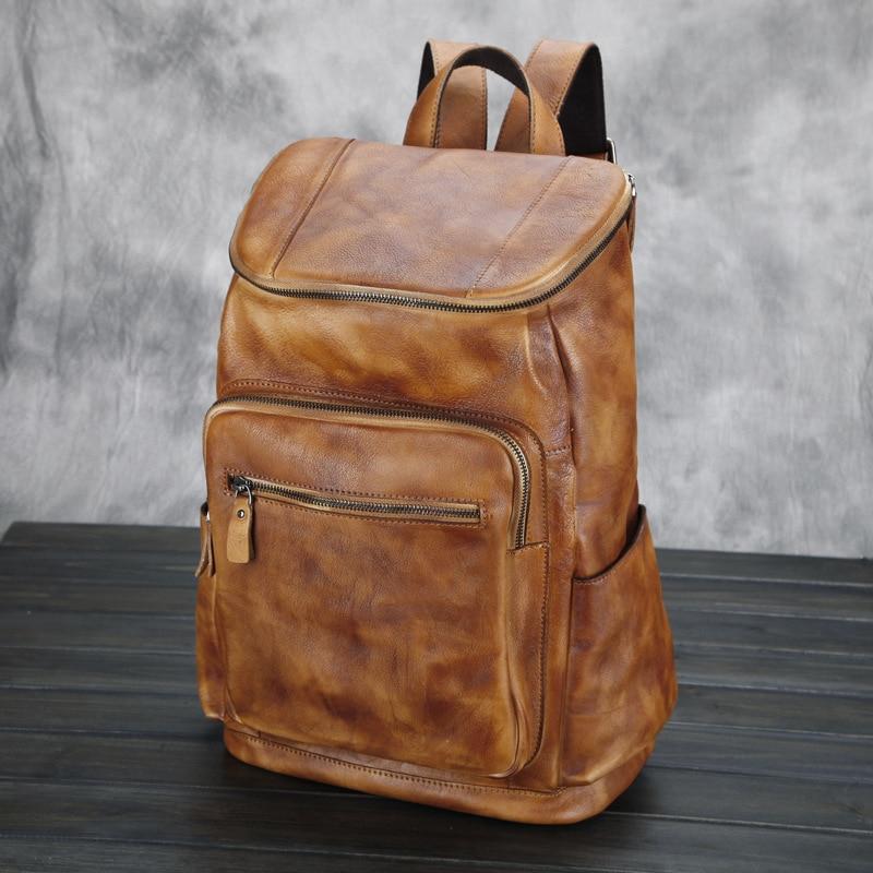 Online Shop Fashion Women soft genuine Leather Backpack girl ...