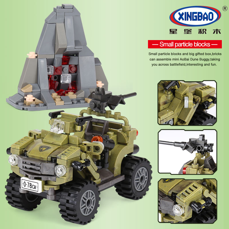 Toys & Hobbies Model Building Xingbao 06010 347pcs Genuine Military Series The Oprah Sand Car Set Model Building Blocks Bricks Techine Toys Childrens Gift