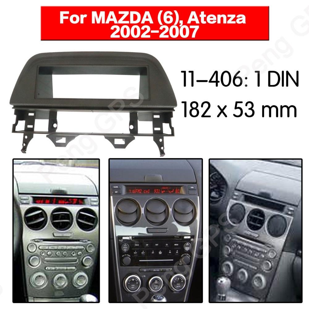 1 DIN Car Radio Fascia Install Trim Kit Fitting Frame Dashboard For MAZDA 6 Atenza 2002