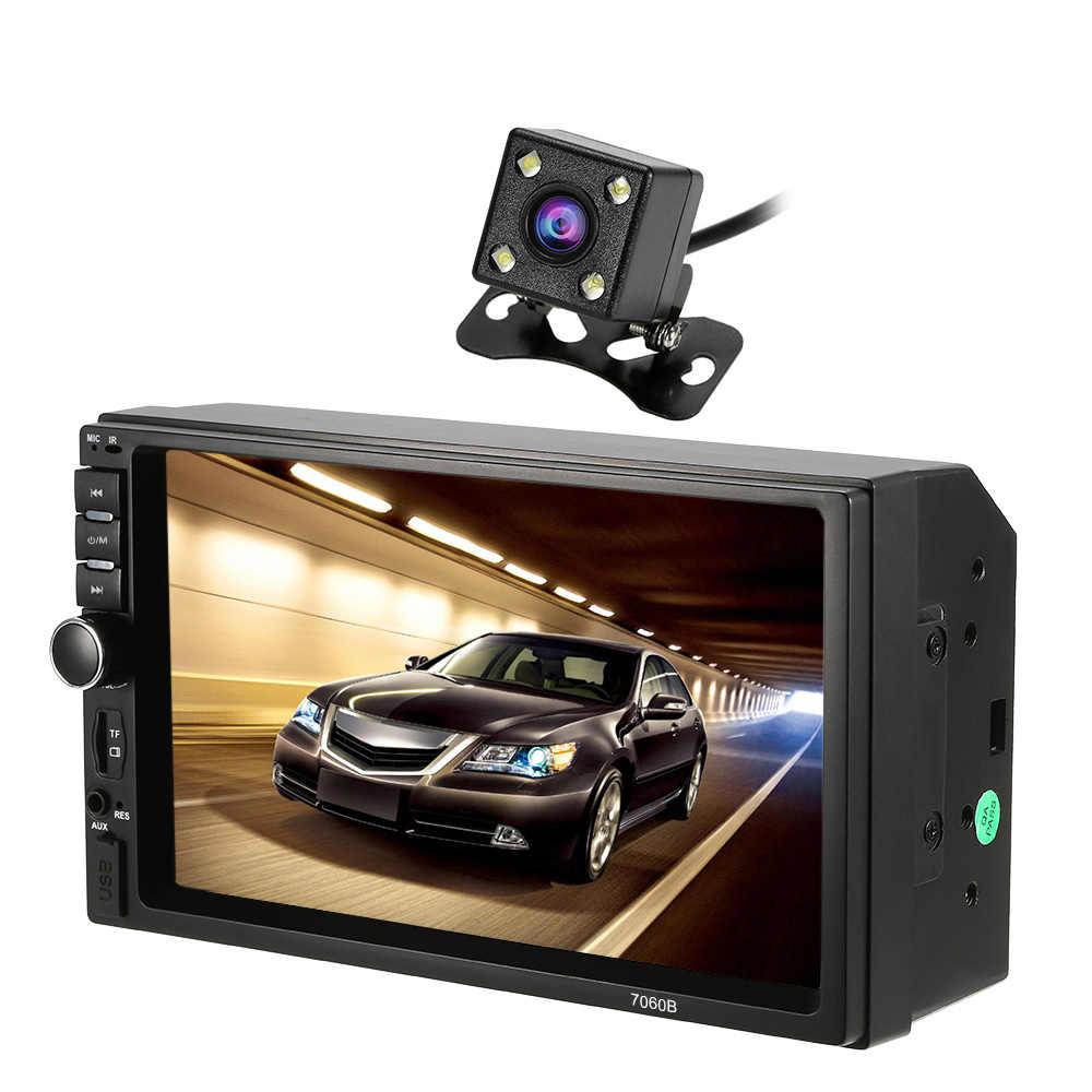 Автомагнитола автомобильная видео Mp3 MP5 плеер Automagnitola 2-din Автомобильная магнитола BT FM красочный ключ питания с входом для задней камеры